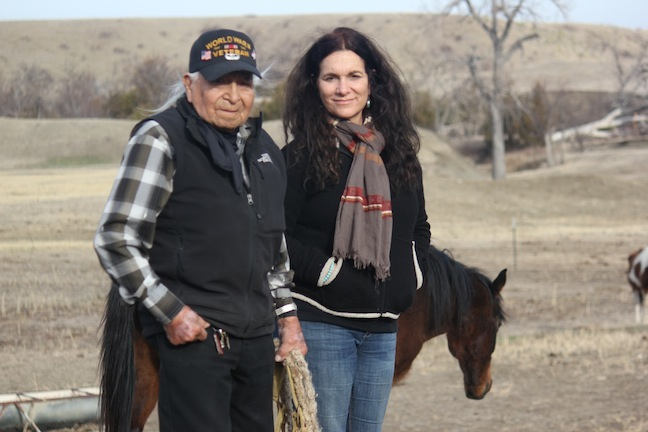 Chief David Bald Eagle with Neda DeMayo April 2013